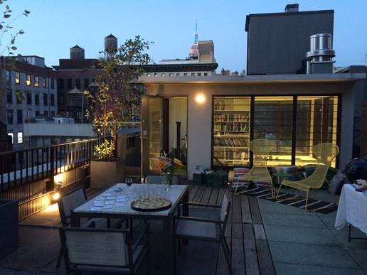 image of roof top patio for Trent in New York City event