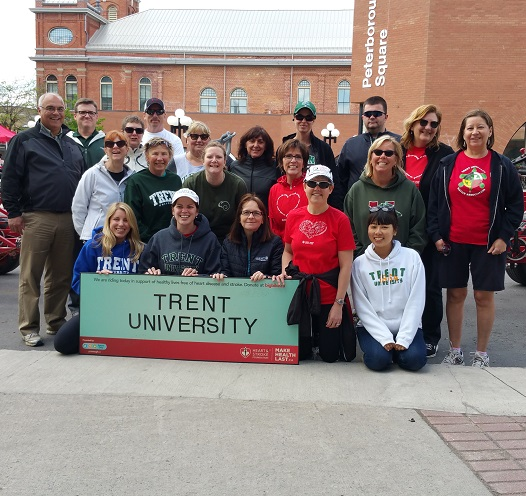 Trent staff & faculty participate in Big Bike for Heart & Stroke