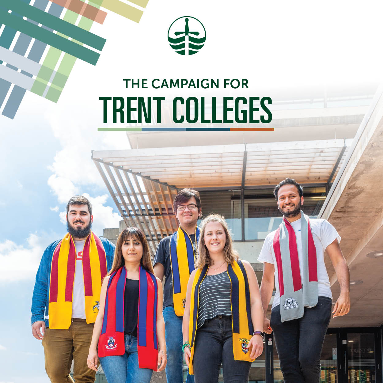 students from different Trent Colleges supporting The Campaign