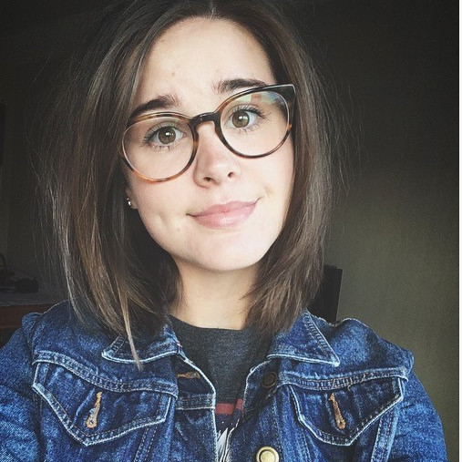Selfie of Charlie, with a jean jacket
