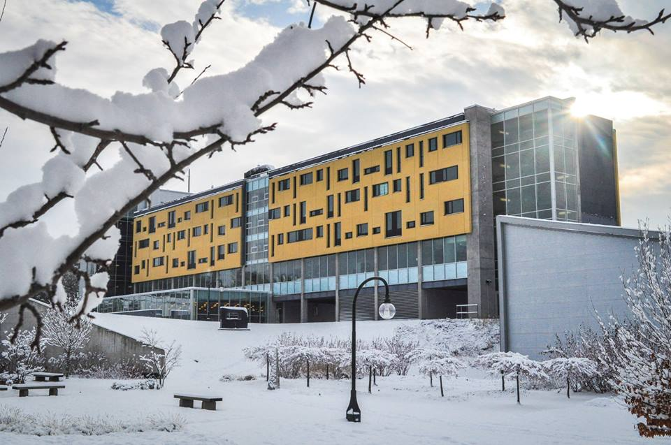 Gzowski College in winter