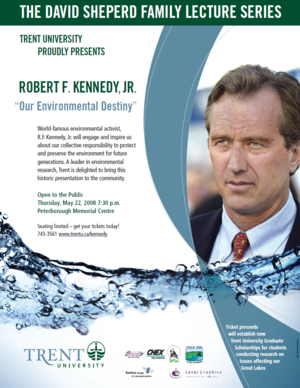 Robert F. Kennedy, Jr. lecture on Our Environmental Destiny