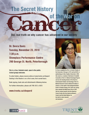 Hyperlink to PDF copy on lecture to The Secret History of the war on Cancer