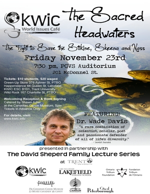 Hyperlink to PDF copy on The Sacred Headwaters, lecture by Dr.Wade Davis