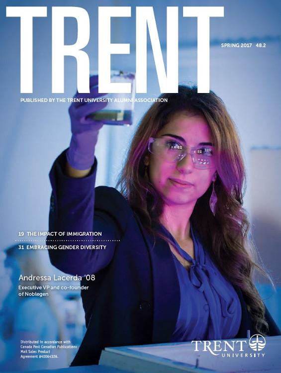 Trent Magazine Spring 2017 cover