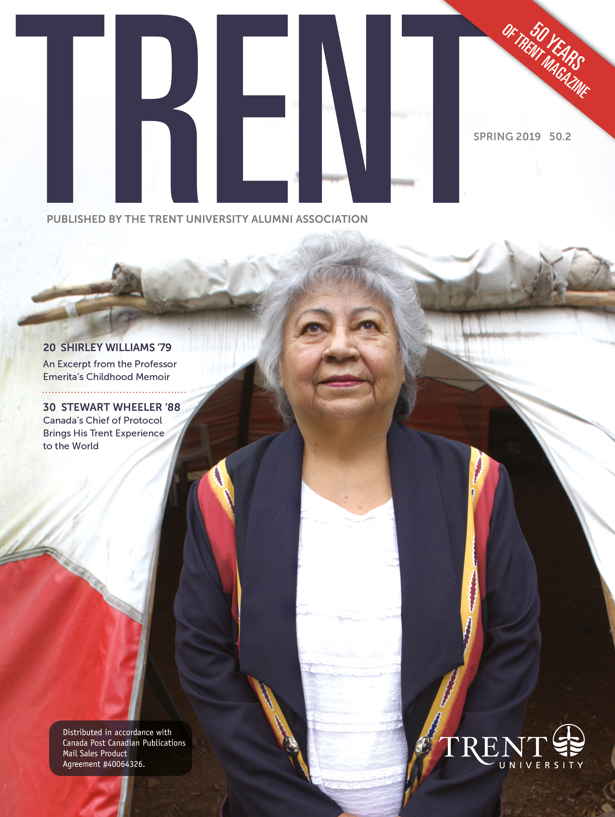 Trent Magazine Cover featuring Shirley Willaims '79