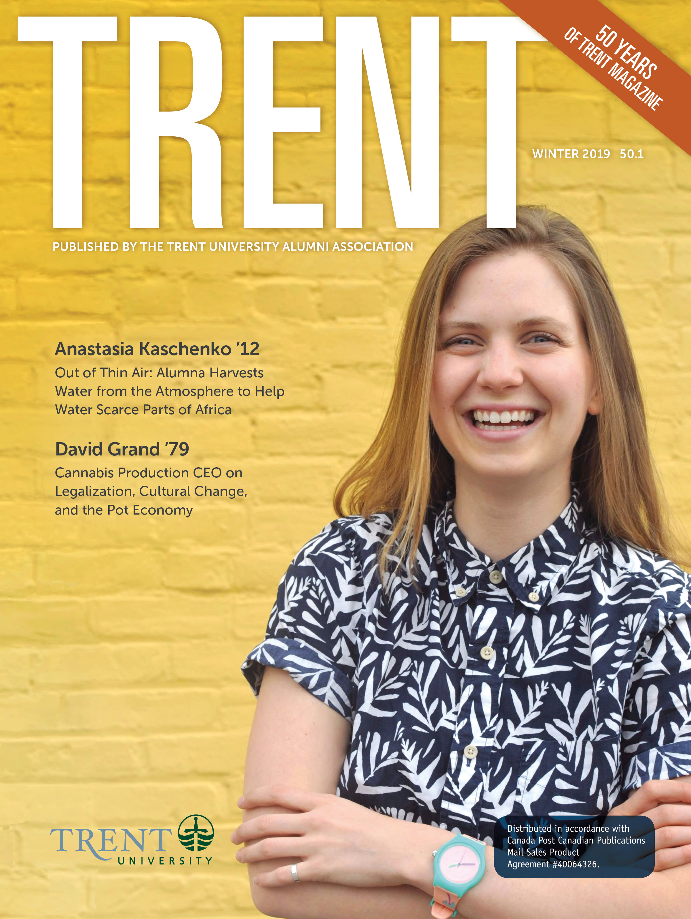 Trent Magazine Cover featuring Anastasia Kaschenko '12