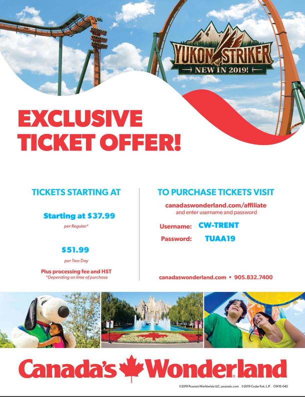 Canada's Wonderland exclusive ticket offer