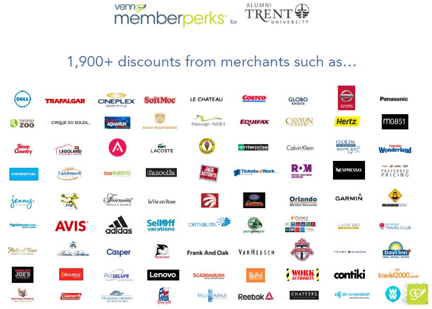 MemberPerk discounts for Trent images