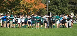 Photo of Trent mens rugby team in the Justin Chiu Stadium at Trent University