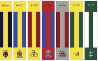 trent university college scarves with alumni logo