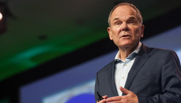 Don Tapscott giving speech