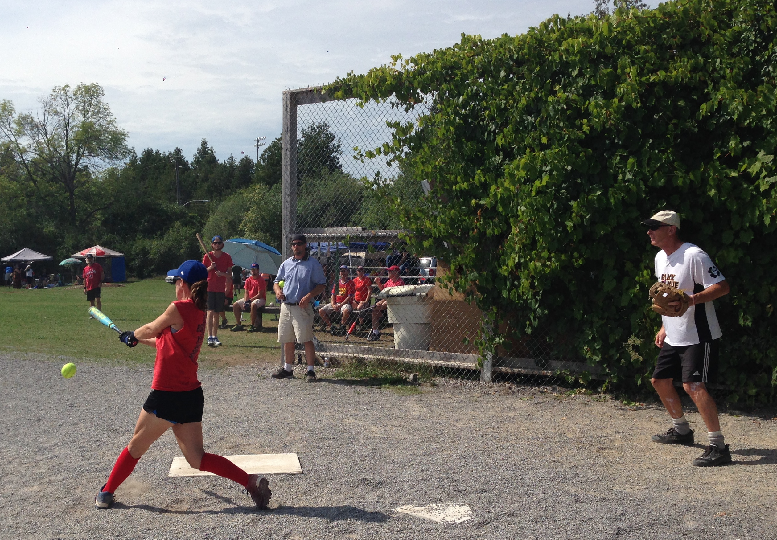 trent alumni and staff slo pitch league