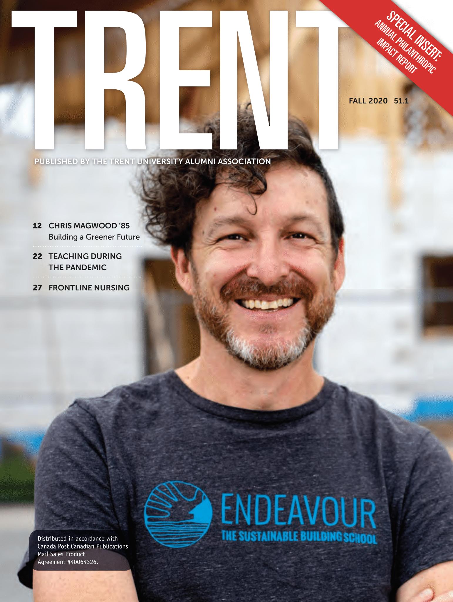 trent magazine fall 2020 cover