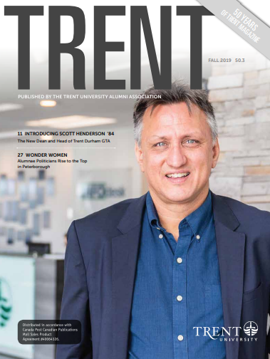 Trent Magazine cover featuring Dr. Scott Henderson