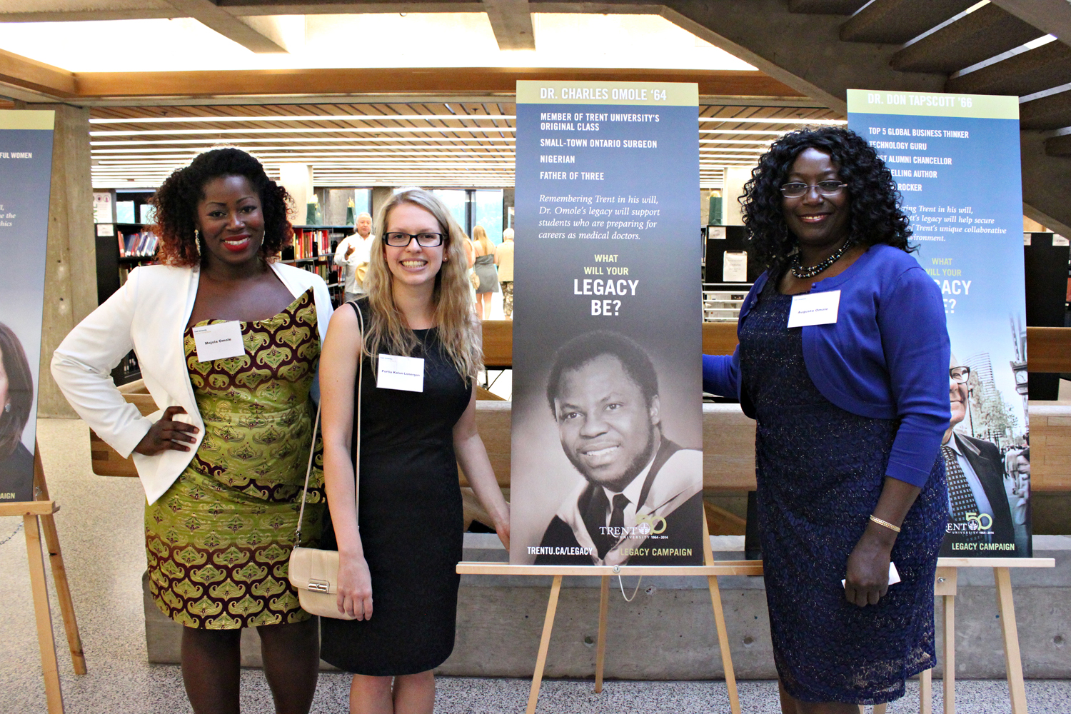 Three women at the Legacy Campaign Event